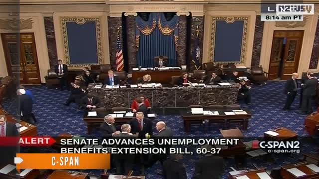 News video: Senate Moves Closer To Extending Unemployment Benefits